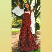 Fleur de Lis Dress. Windlass. Burgundy. Vestido Medieval. Marto